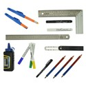 Lápices, escuadras y marcadores